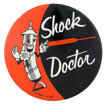Shock Doctor Advertising Button Museum
