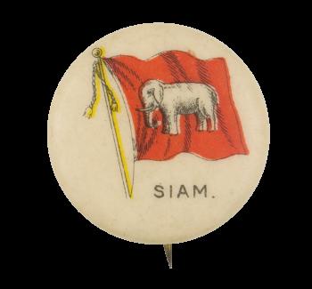 Siam Flag Advertising Button Museum