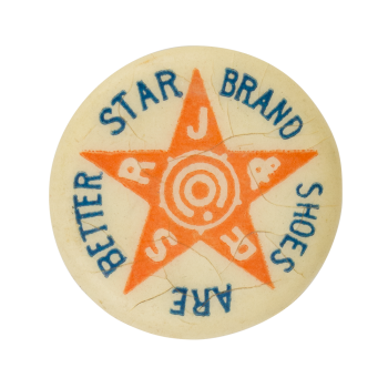 Star Brand Shoes Advertising Button Museum