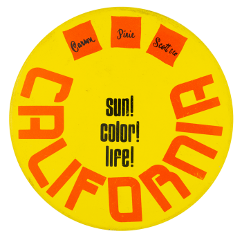 Sun Color Life Advertising Button Museum