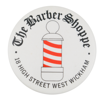 The Barber Shoppe Advertising Button Museum