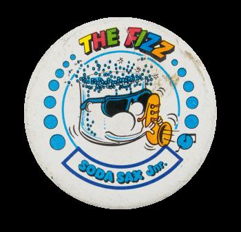 The Fizz Soda Sax Junior Advertising Button Museum