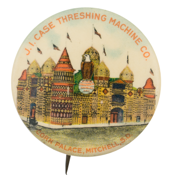 Threshing Machine Company Corn Palace Advertising Button Museum