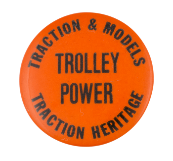 Traction Heritage Advertising Button Museum