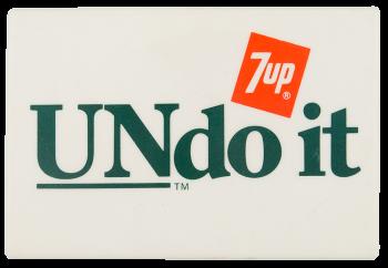 Undo It Advertising Button Museum