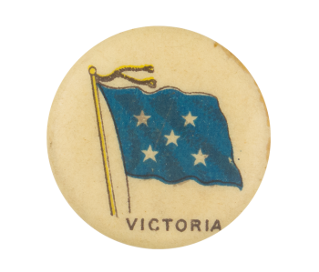 Victoria Flag Advertising Button Museum