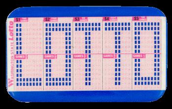 Washington State Lotto Advertising Button Museum