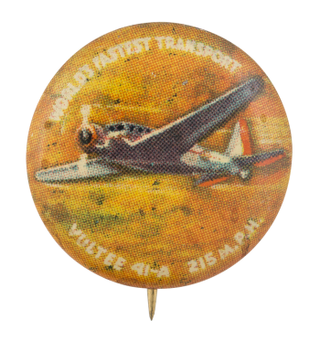 Vultee 41-A Advertising Button Museum