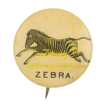 Zebra Advertising Button Museum