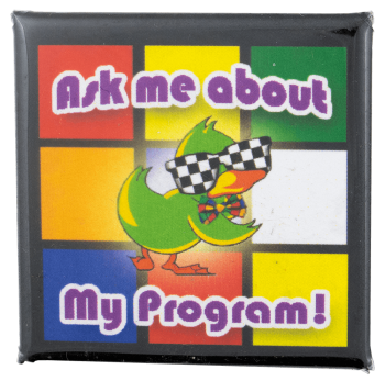 Ask Me About My Program Ask Me Busy Beaver Button Museum