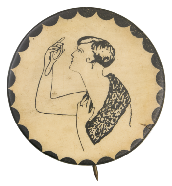 1920s Flapper Art Button Museum