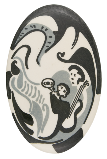 Abstract Musicians Art Button Museum