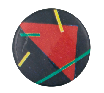 Abstract Red Triangle Art Button Museum