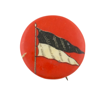 Black and White Flag Art Button Museum