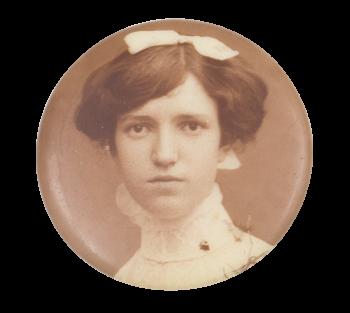 Black and White Portrait Woman 5 Art Button Museum