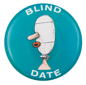 Basil Wolverton Blind Date Art Button Museum