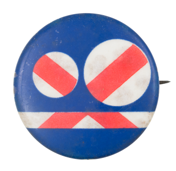 Blue Over Red Lines Vote Art Button Museum