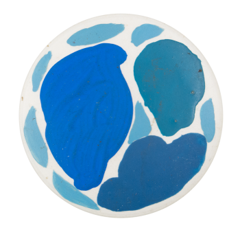 Blue Shapes Art Button Museum