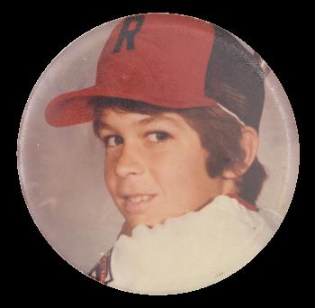 Boy in Hat Portrait Art Button Museum