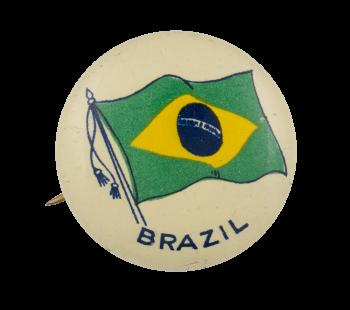Brazil Flag Art Button Museum
