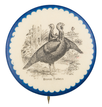 Bronze Turkeys Art Button Museum