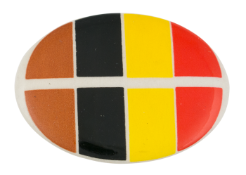 Brown Black Yellow Orange Art Button Museum