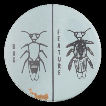 Bug Feature Art Button Museum