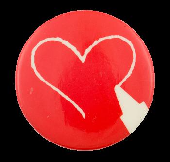 Crayon Heart Art Button Museum