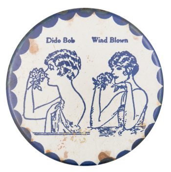 Dido Bob Wind Blown Art Button Museum