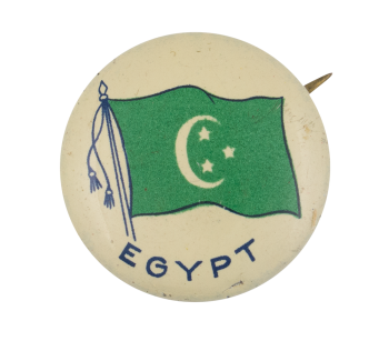Egypt Flag Art Button Museum