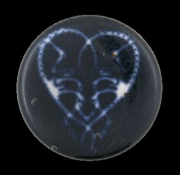 Glowing Heart Art Button Museum