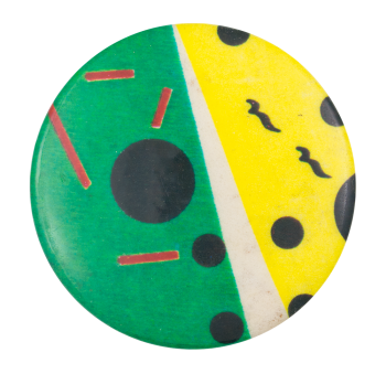 Green and Yellow Abstract Art Button Museum