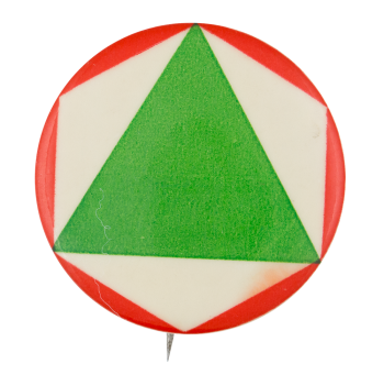 Green Triangle Art Button Museum