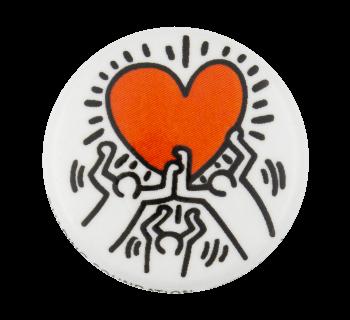 Keith Haring Dancing Heart Art Button Museum