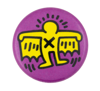 Keith Haring Batman Art Button Museum
