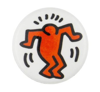 Keith Haring Person Art Button Museum