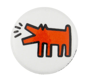 Keith Haring Barking Dog Art Button Museum