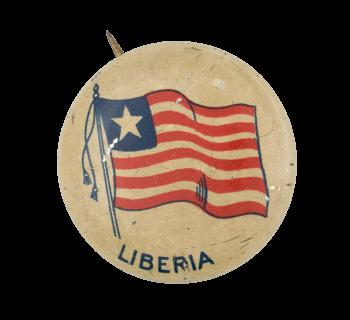 Liberia Flag Art Button Museum