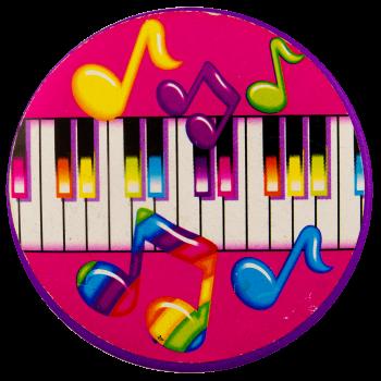 Lisa Frank Piano Art Busy Beaver Button Museum