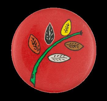 Multicolor Leaves Art Button Museum