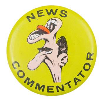 Basil Wolverton News Commentator Art Button Museum