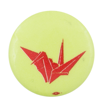 Origami Crane Art Button Museum