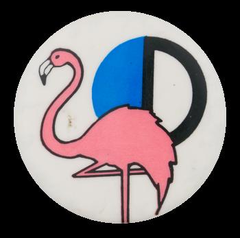 Pink Flamingo Art Button Museum