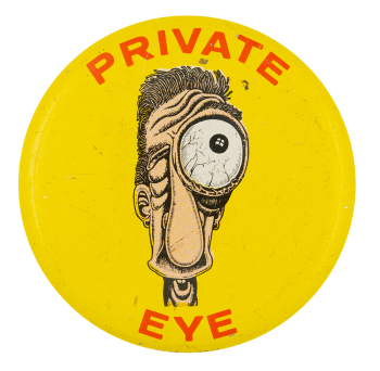 Basil Wolverton Private Eye Art Button Museum