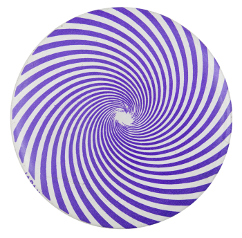 Purple Spiral Art Button Museum