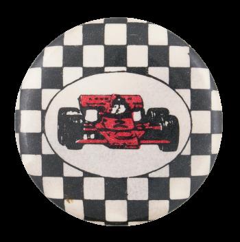 Red Race Car Art Button Museum