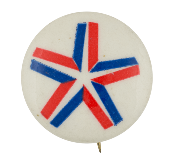 Red White and Blue Star Art Button Museum
