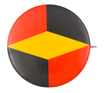 Red Yellow Black Shapes Art Button Museum