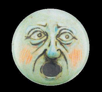 Shocked Face Art Button Museum