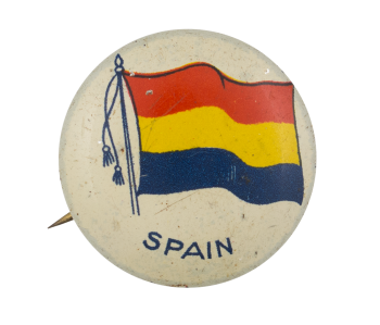 Spain Flag Art Button Museum